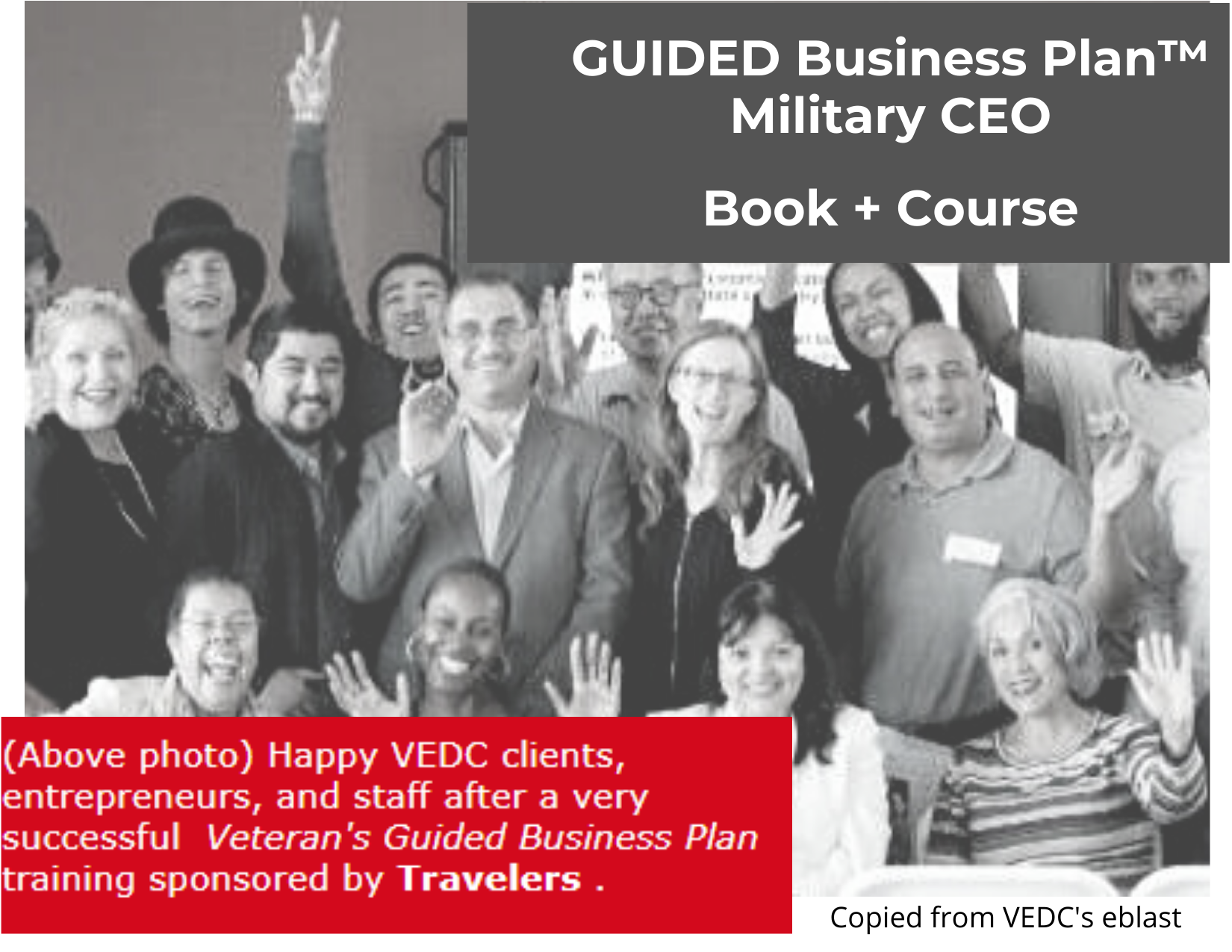 GUIDED Business Plan class for veterans and military spouses