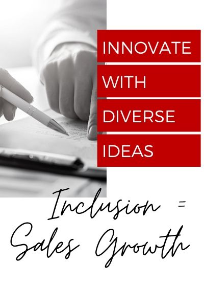 Text: Inclusion equals sales growth