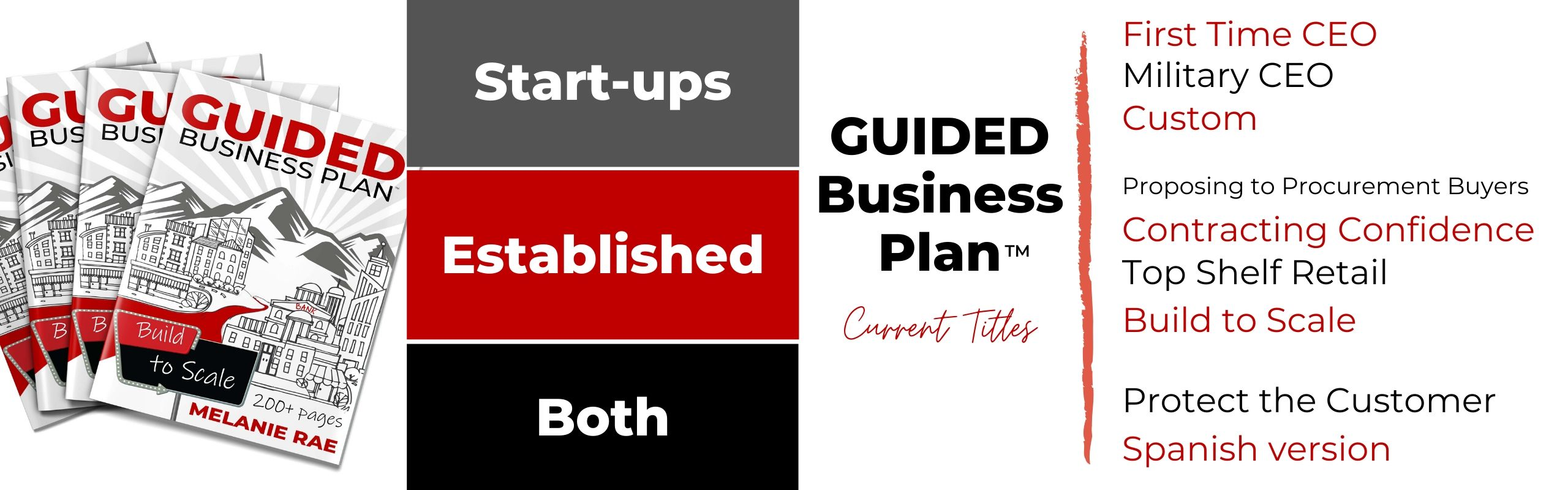 GUIDED Business Plan book titles